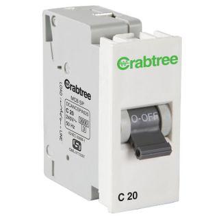 Crabtree Amare 20 A Sp 'C' Mini Mcb