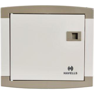 Havells MCB DB Box SPN Double Door 4 Way Real Grey QVE SERIES